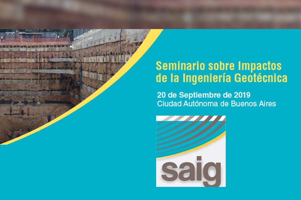 Seminario sobre impactos de la Ingenieria Geotécnica (Argentina)