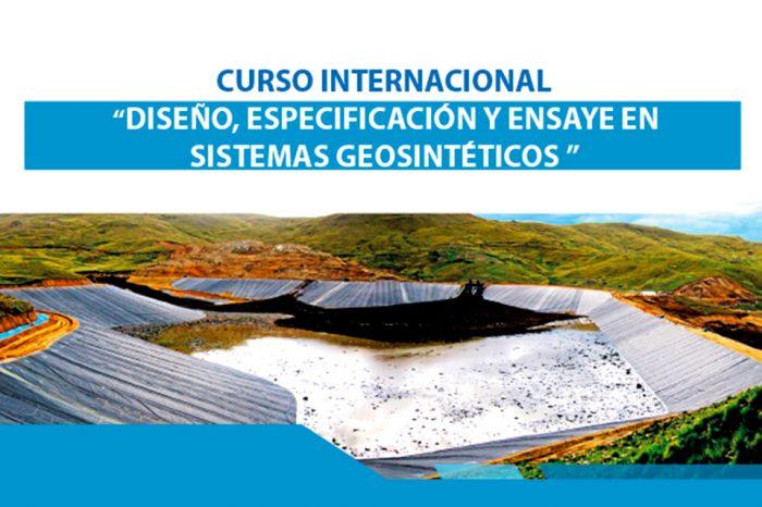 """Curso internacional """"Diseño, especificación y ensaye en sistemas geosinteticos"""" se realizará el 8 y 9 de octubre en Santiago"""