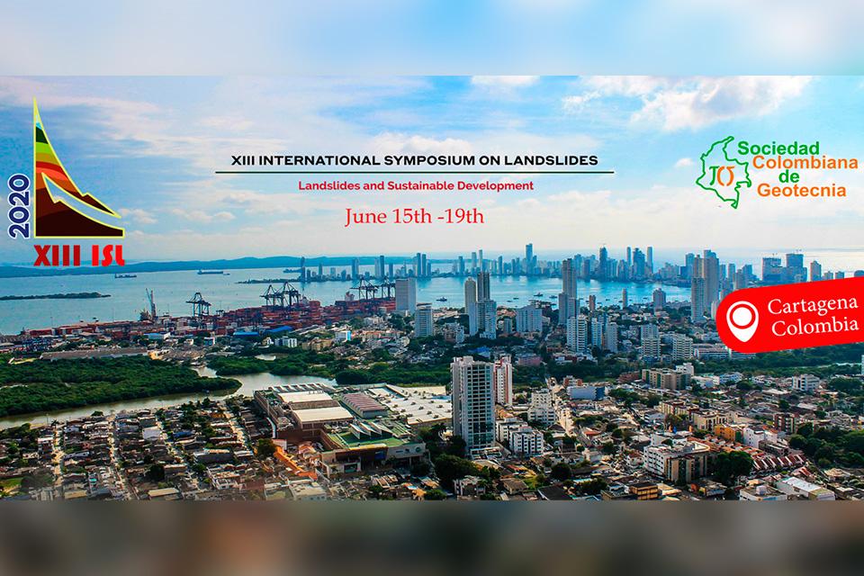 XIII Simposio de Deslizamientos a ser realizado en Cartagena de Indias en Junio de 2020
