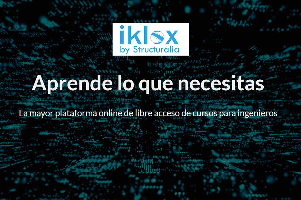Sitio web Iklox de Structuralia libera por 2 meses todo su catálogo de mas de 500 cursos de ingeniería debido al Covid-19