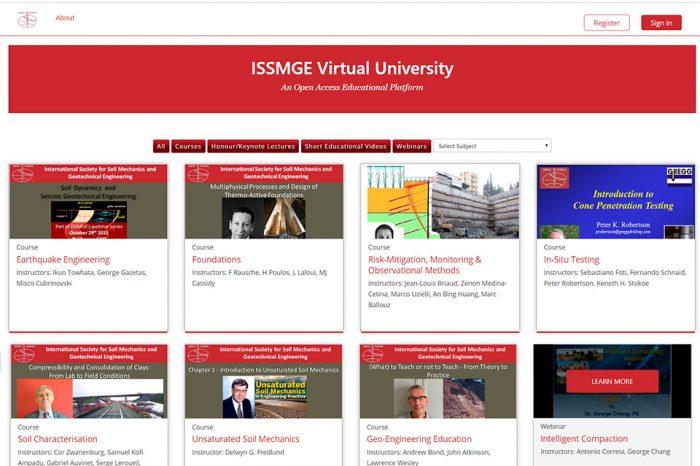 """La Sociedad Internacional de Mecánica de Suelos e Ingeniería Geotecnia (ISSMGE) lanza su plataforma """"Universidad Virtual"""""""