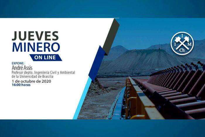 """Jueves Minero Online: """"Análisis de riesgo en geotecnia y en la gestión de residuos mineros"""" - 1 de octubre de 2020 - 16:00 horas"""