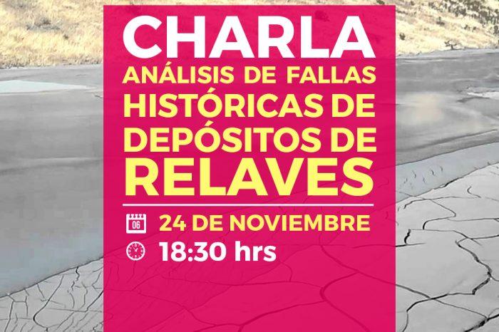 Charla Análisis de fallas históricas de depósitos de relaves