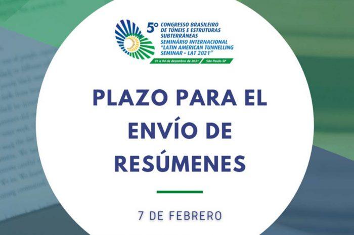 """El plazo de envío de resúmenes al """"V Congreso Brasileño de Túneles y Estructuras Subterráneas"""" finaliza el 7 de febrero"""