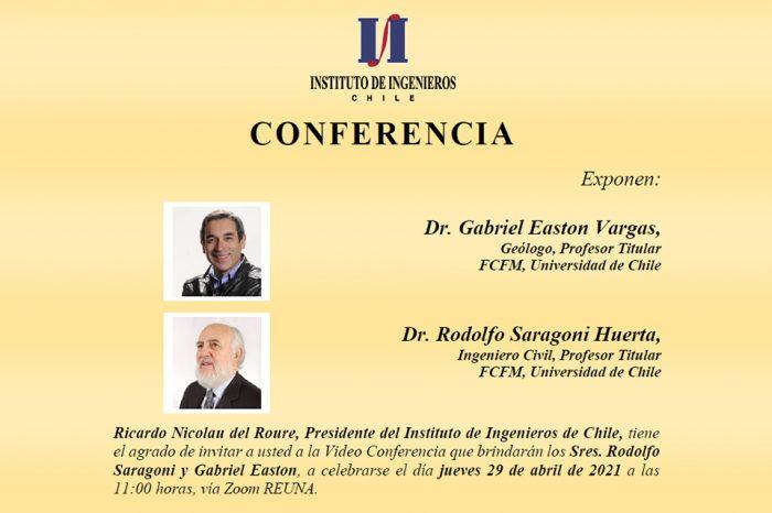 """Conferencia """"La Falla San Ramón y el Desafío de las Fallas Activas para la Ingeniería."""""""