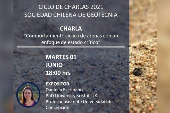 """Charla """"Comportamiento cíclico de arenas con un enfoque de estado crítico"""""""