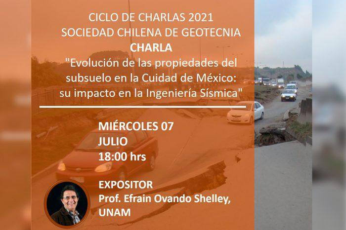 """CAMBIO DE FECHA Ciclo de Charlas Sochige """"Evolución de las propiedades del subsuelo en la ciudad de México: su impacto en la Ingeniería Sísmica"""""""