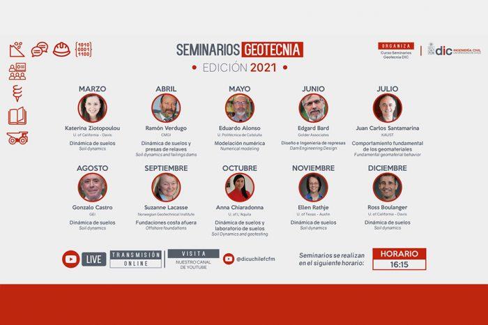 Ciclo de seminarios geotécnicos de la Universidad de Chile