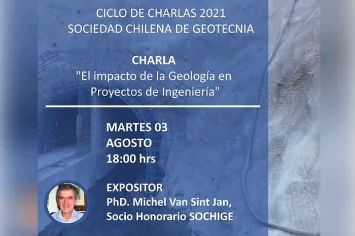 """Charla """"El impacto de la Geología en Proyectos de Ingeniería"""""""
