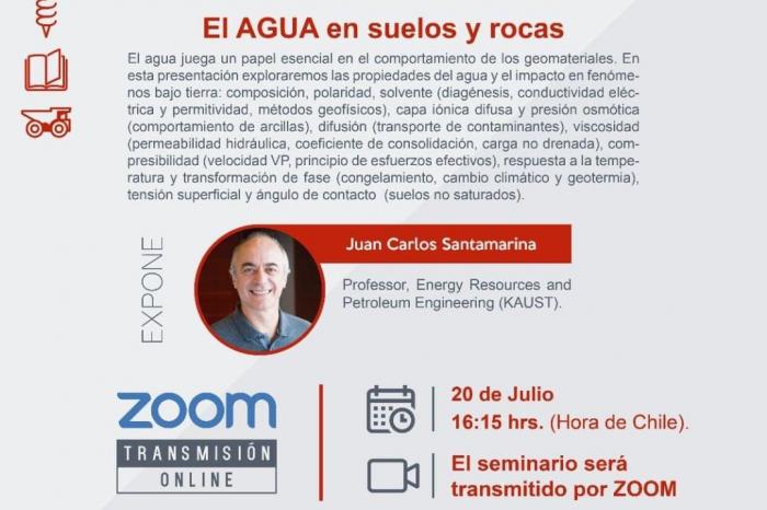 """Seminario de Geotecnia: """"El AGUA en suelos y rocas"""""""
