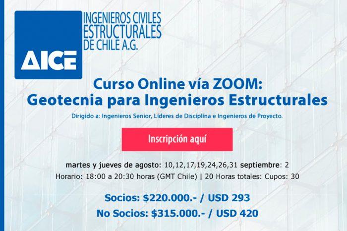 Nueva Versión Curso online AICE: Geotecnia para Ingenieros Estructurales