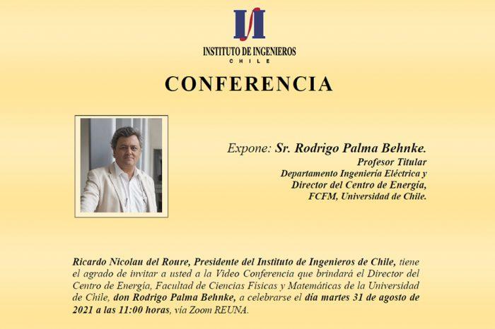 """Invitación Conferencia """"El Rol del Hidrógeno Verde en el Desarrollo de las Energías Renovables de Chile"""""""