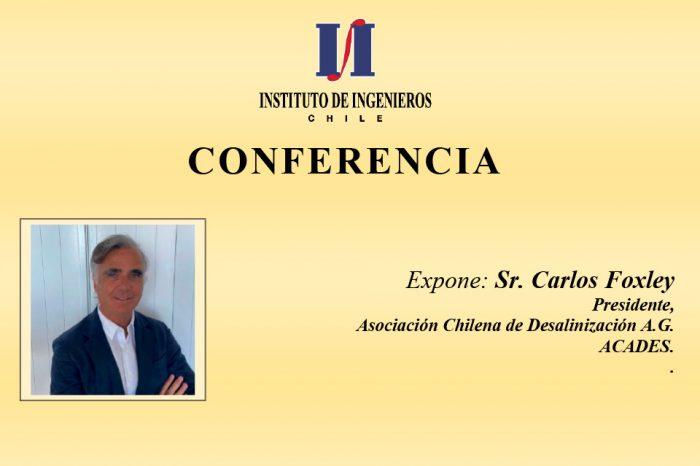 """IING invita a la Conferencia: """"La Desalinización de agua de mar como una opción estratégica para el futuro de Chile"""""""